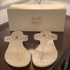 "Coach ""Pennie Jelly"" Sandals"